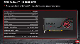AMD Radeon HD 6850 card specification