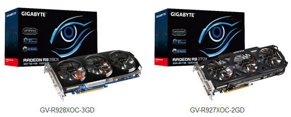 GIGABYTE R9 280X and R9 270X Overclock Edition