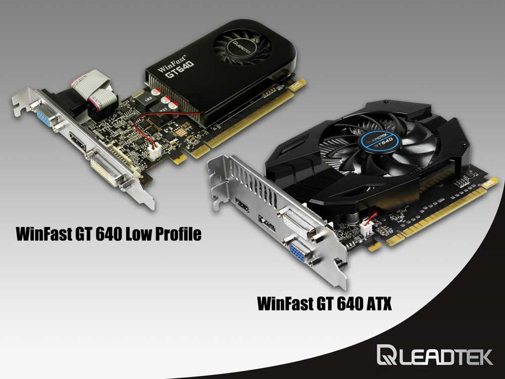 Leadtek Unveils WinFastR GT 640 Graphics Card with Two