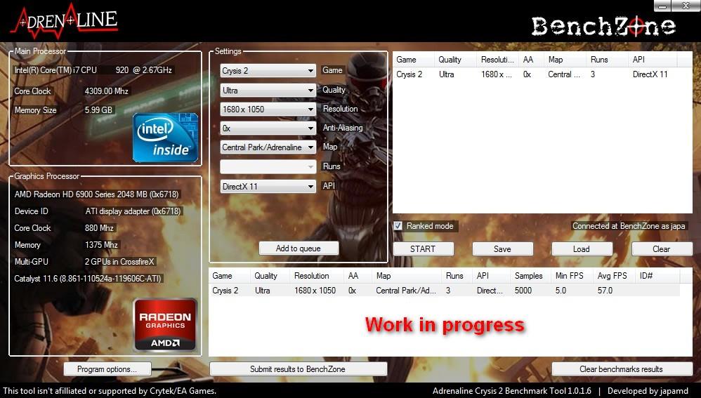 Testing Crysis 2  Built-in benchmark   HWlab
